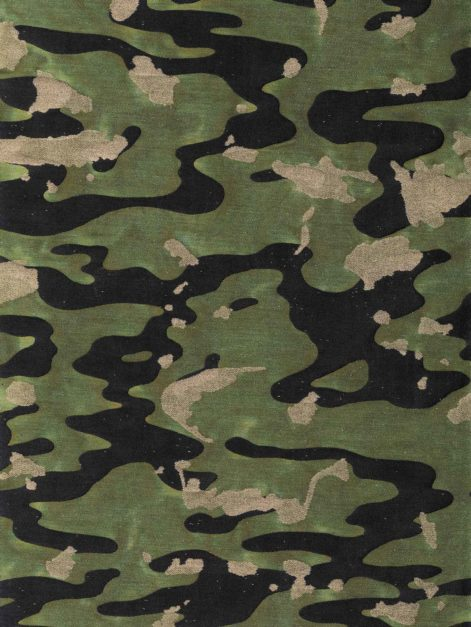5743 CAMO ISOLE in army Fortuny Printed Cottons