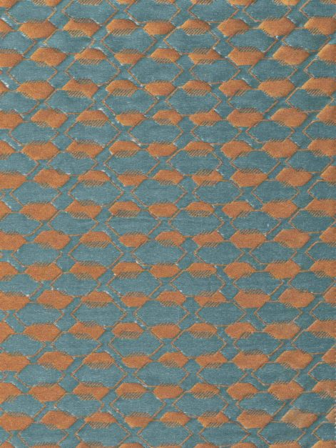 5752 DISSOLVENZA in teal & copper Fortuny Printed Cottons
