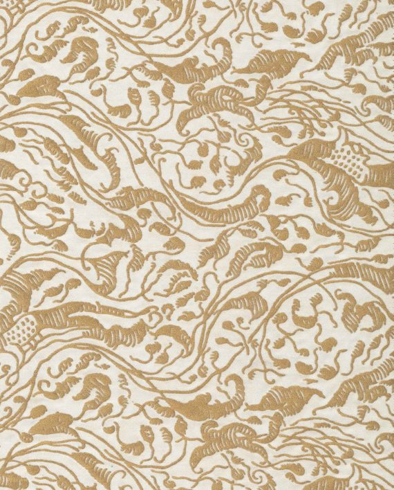 5756 LEOPARDI in ivory & gold Fortuny Printed Cottons
