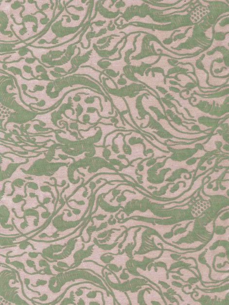 5757 LEOPARDI in old rose & celadon Fortuny Printed Cottons