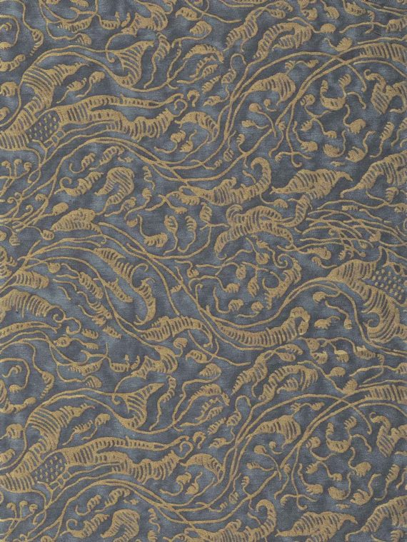 5758 LEOPARDI in dark blue & gold Fortuny Printed Cottons