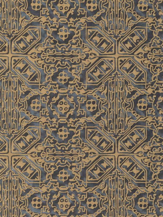 5762 MORESCO in black & gold Fortuny Printed Cottons