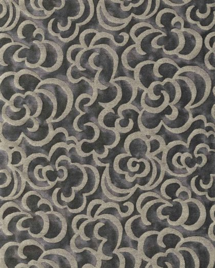 5763 NUVOLE in black & silvery gold Fortuny Printed Cottons
