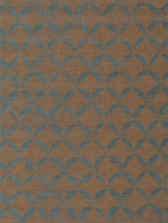 5776 SCALE in teal & copper Fortuny Printed Cottons