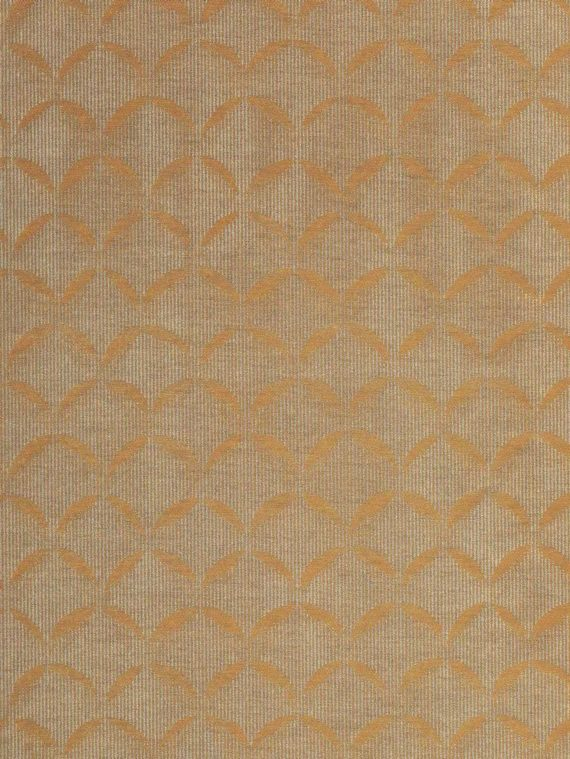 5777 SCALE in sienna & silvery gold Fortuny Printed Cottons