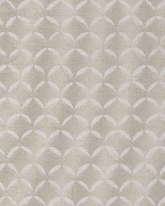 5778 SCALE in pale grey & silvery gold Fortuny Printed Cottons