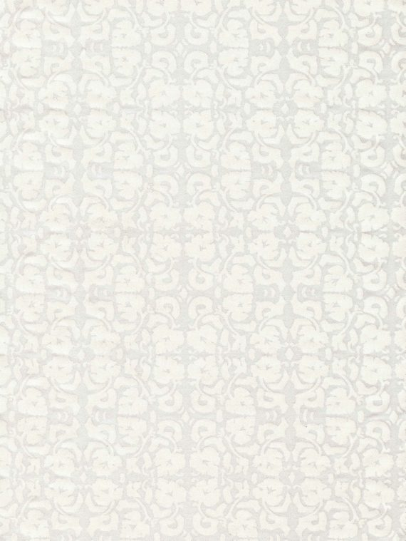 5769 SHIRAZ in white on white Fortuny Printed Cottons