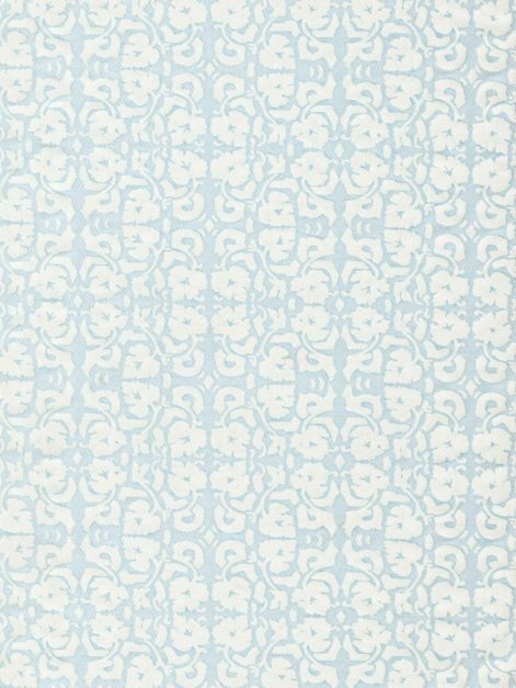5770 SHIRAZ in powder blue & white Fortuny Printed Cottons