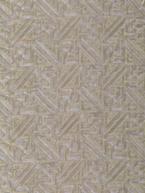 5771 SIMBOLI in platinum & silvery gold Fortuny Printed Cottons