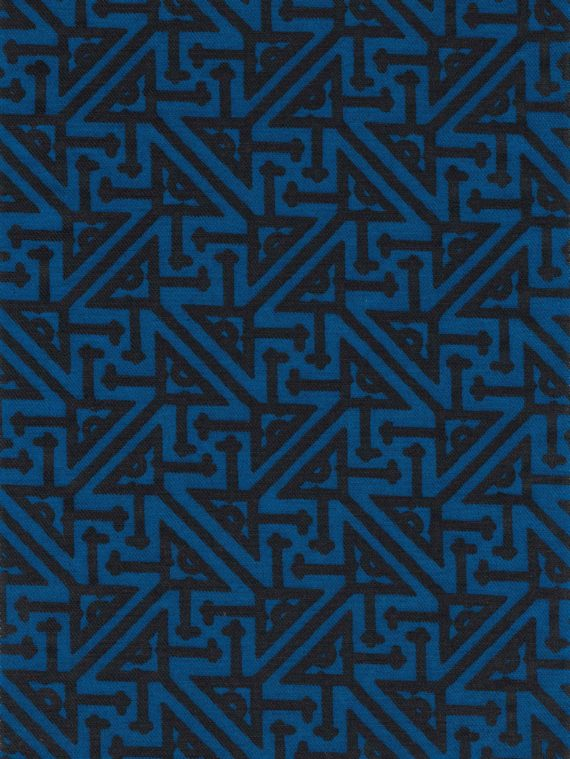 5772 SIMBOLI in cobalt & black texture Fortuny Printed Cottons