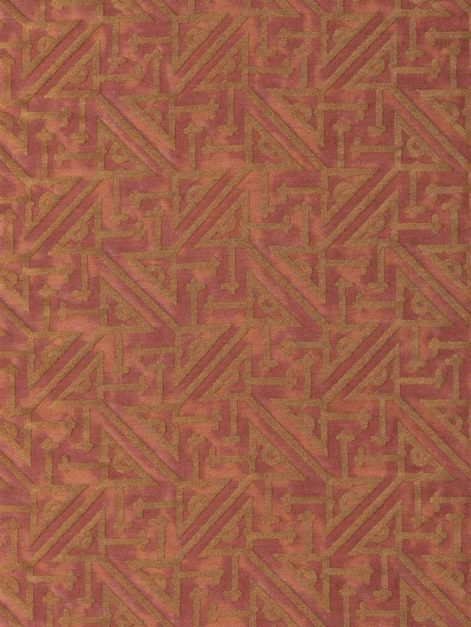 5774 SIMBOLI in cinnamon & copper Fortuny Printed Cottons