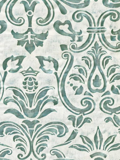 5801 MARMORINO in verde antico & pale grey Fortuny Printed Cottons