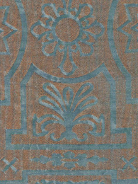 5810 ALTARE in verde antico & copper Fortuny Printed Cottons