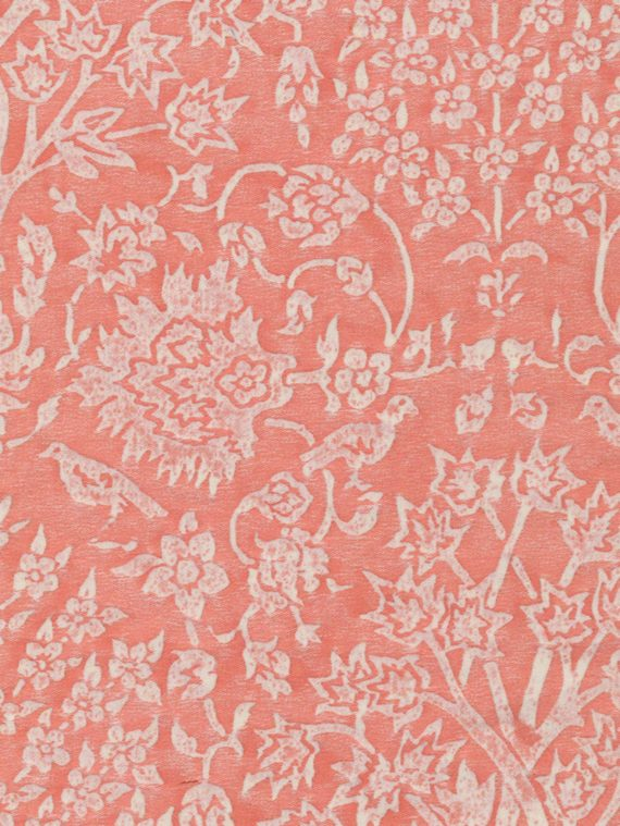 5422 ALBERELLI in melon & white Fortuny Printed Cottons