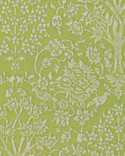 5427 ALBERELLI in apple green & white Fortuny Printed Cottons