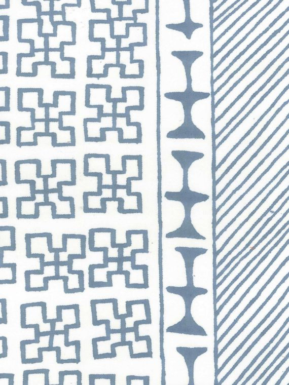 5321 ASHANTI in delft blue & white Fortuny Printed Cottons