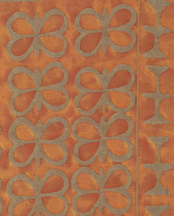 5426 ASHANTI in burnt apricot & silvery gold Fortuny Printed Cottons