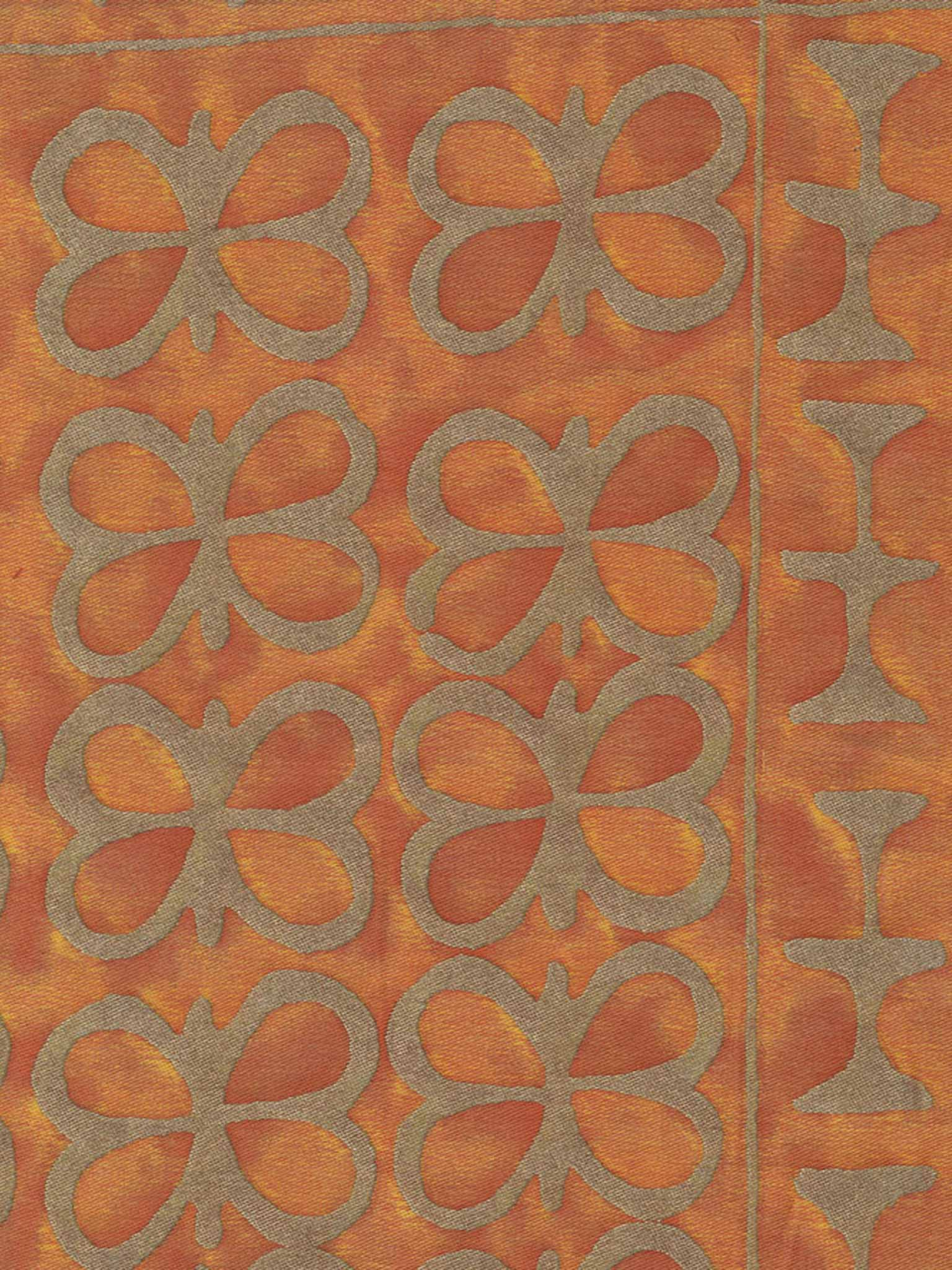 Fabrics fortuny 5426 ashanti in burnt apricot silvery gold fortuny printed cottons sisterspd