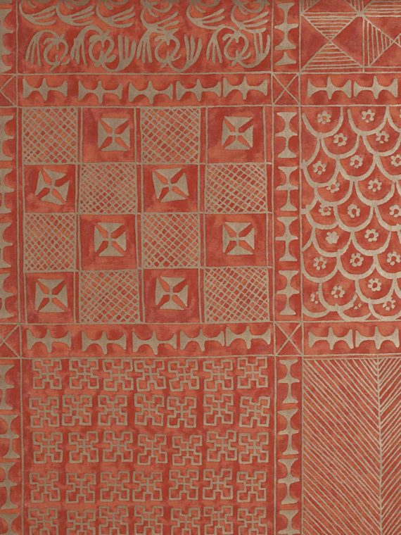 5428 ASHANTI in bittersweet & gold Fortuny Printed Cottons