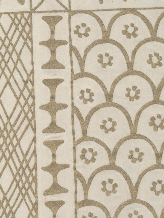 5487 ASHANTI in silvery gold & warm white Fortuny Printed Cottons
