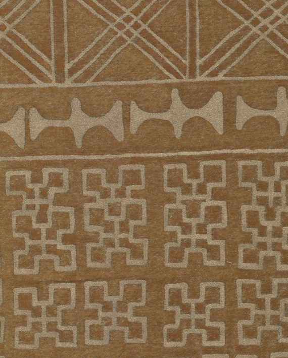5508 ASHANTI in golden brown with gold Fortuny Printed Cottons