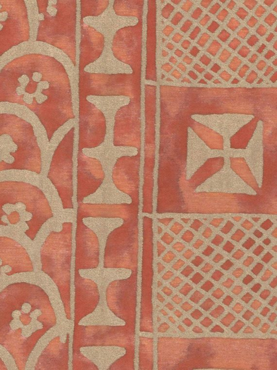 5363 ASHANTI in rust & gold Fortuny Printed Cottons