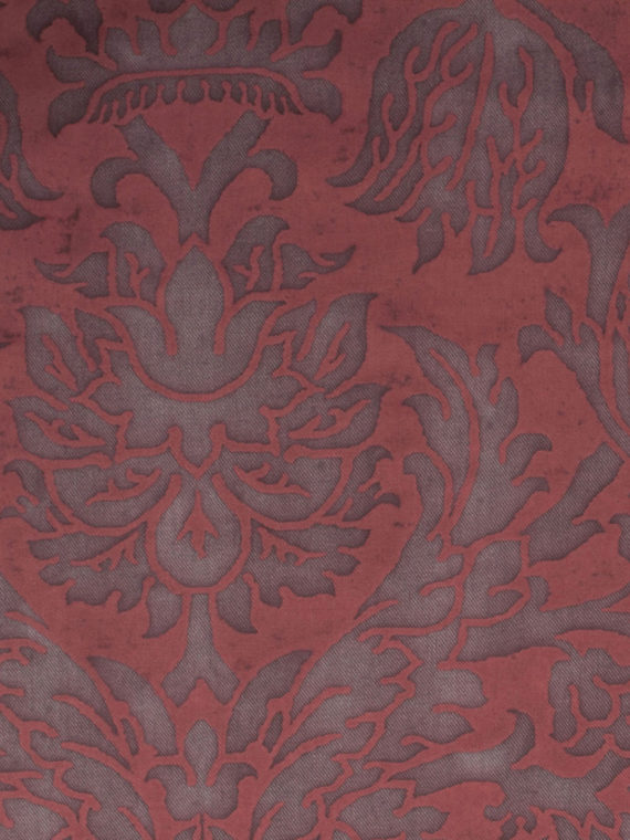 5657 BARBERINI in blackberry texture Fortuny Printed Cottons
