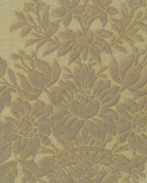 5341 BOUCHER in seafoam green & silvery gold Fortuny Printed Cottons