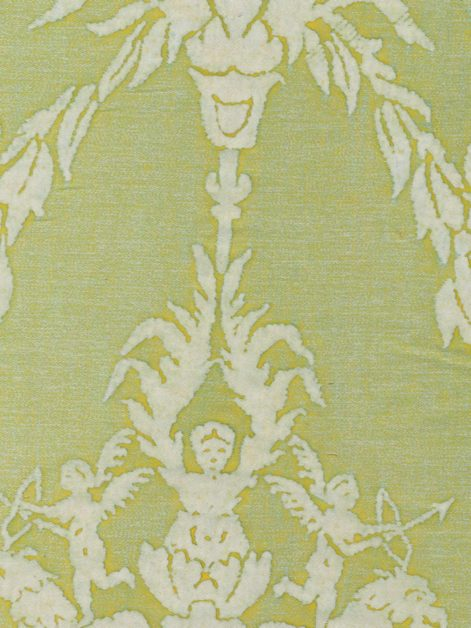 5342 BOUCHER in sulphur green & white Fortuny Printed Cottons
