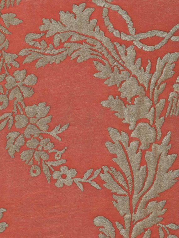 5345 BOUCHER in brilliant red & gold Fortuny Printed Cottons
