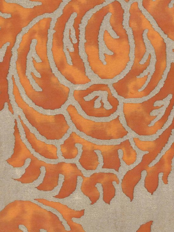 5208 BARBERINI in burnt apricot & silvery gold Fortuny Printed Cottons