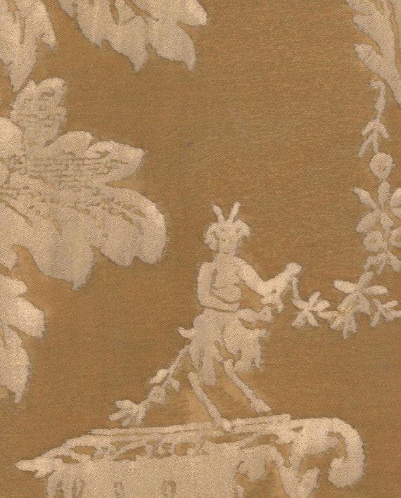 5340 BOUCHER in warm french brown & gold Fortuny Printed Cottons