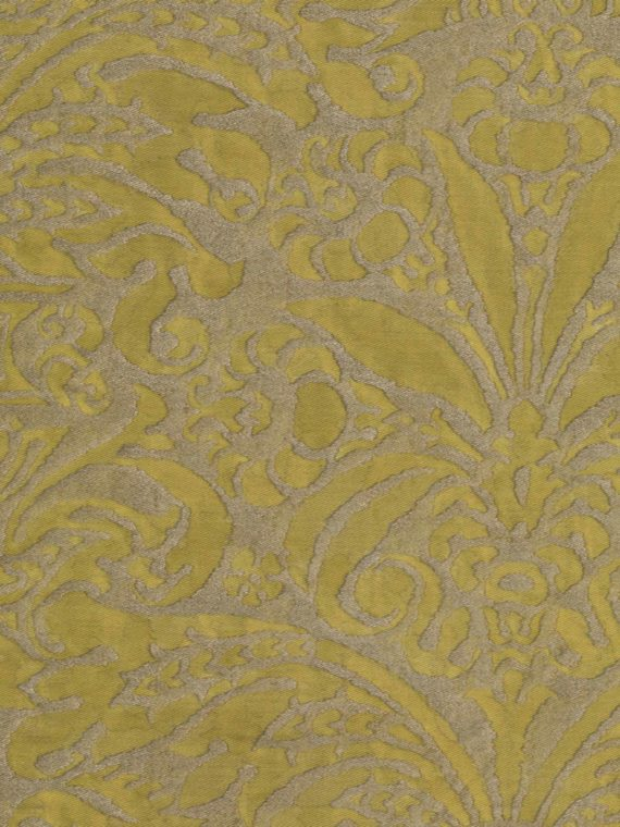 5127 CAMPANELLE in seafoam green & silvery gold Fortuny Printed Cottons