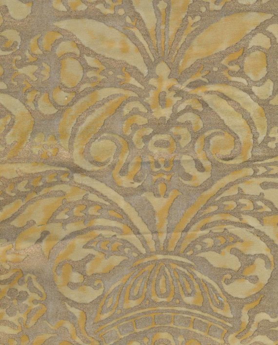 5196 CAMPANELLE in yellow & silvery gold Fortuny Printed Cottons