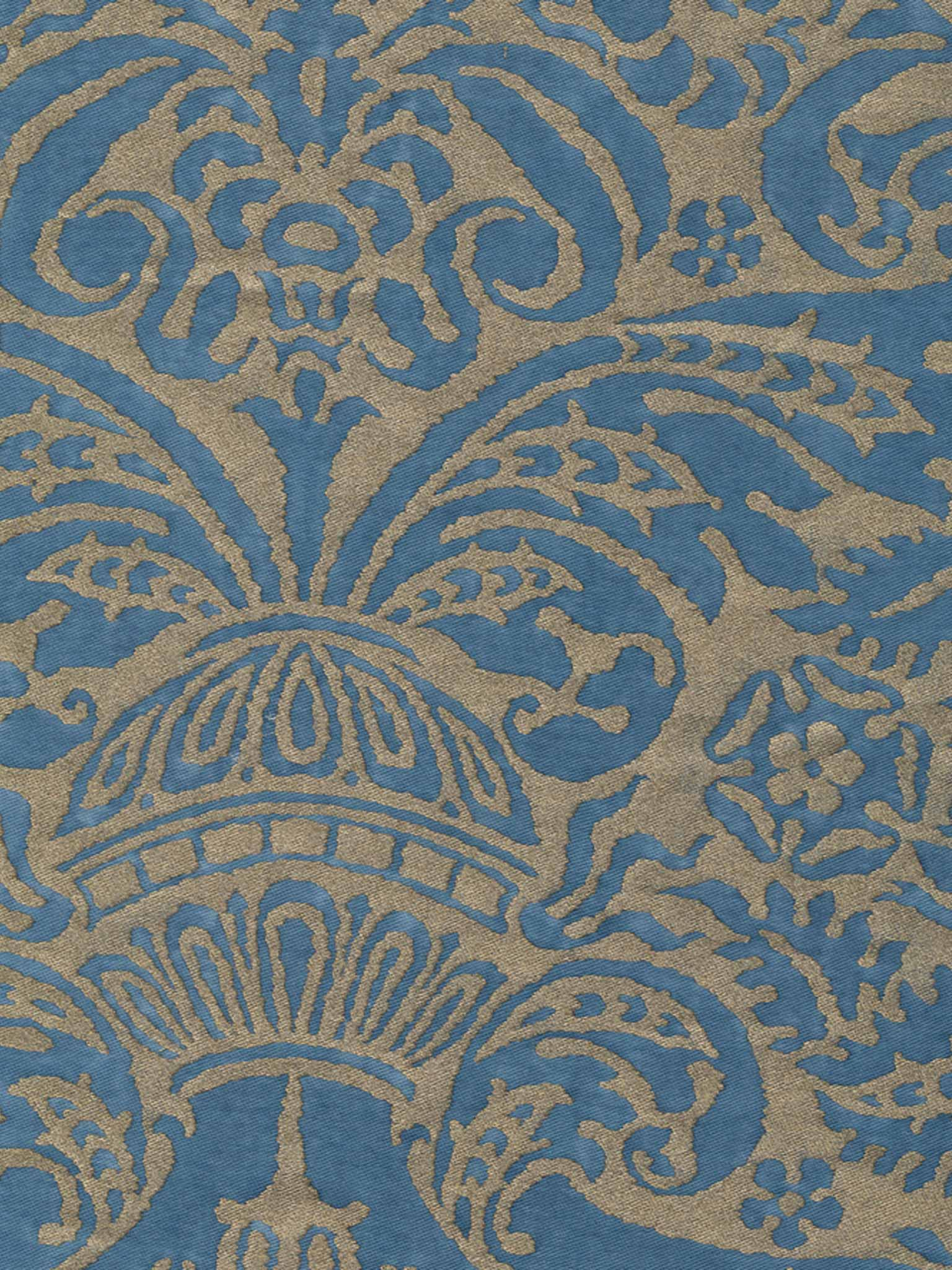 Campanelle in blue silvery gold fortuny 5318 campanelle in blue silvery gold fortuny printed cottons sisterspd
