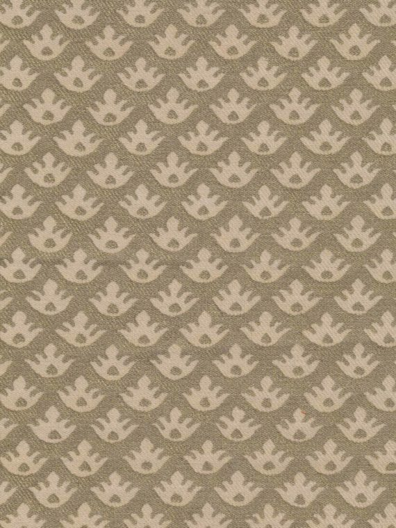 5095 CANESTRELLI in ivory & silvery gold texture Fortuny Printed Cottons