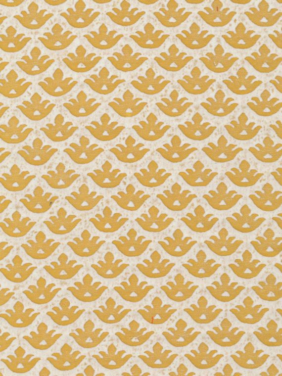 5293 CANESTRELLI in yellow & white Fortuny Printed Cottons