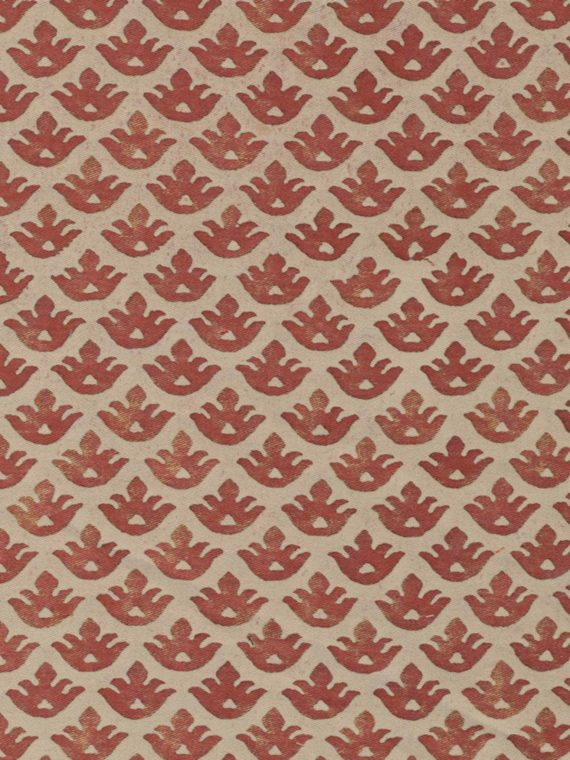 5295 CANESTRELLI in rust & beige Fortuny Printed Cottons