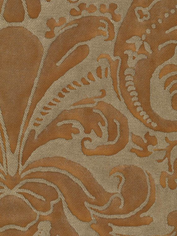 5364 CARAVAGGIO in brown & gold museum texture Fortuny Printed Cottons