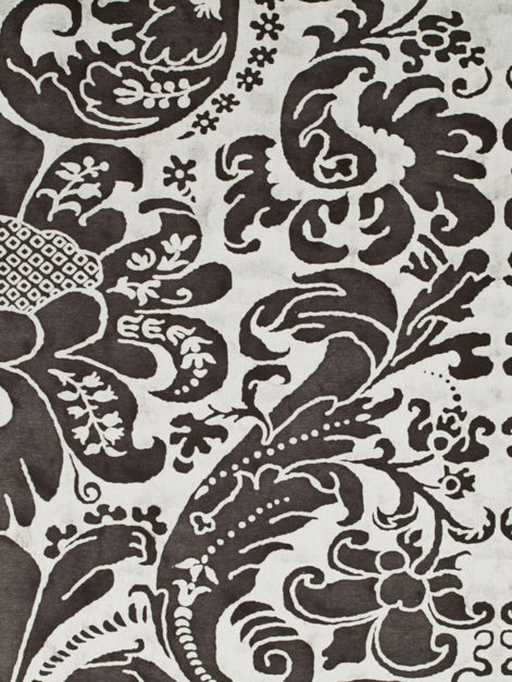 5659 CARAVAGGIO in ebony & white Fortuny Printed Cottons