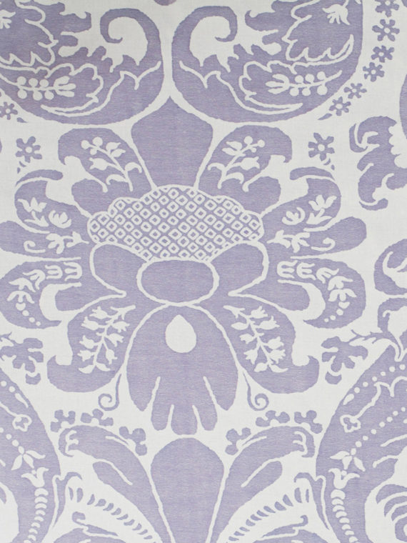 5661 CARAVAGGIO in lavender & white Fortuny Printed Cottons