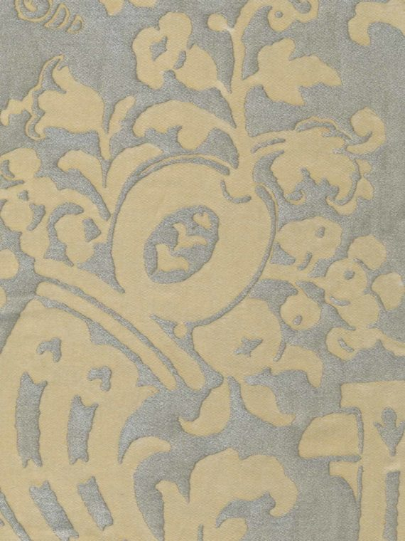 5184 CARNAVALET in avocado green & silvery gold Fortuny Printed Cottons