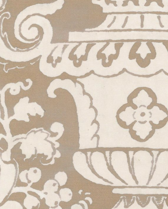 5398 CARNAVALET in white & gold Fortuny Printed Cottons