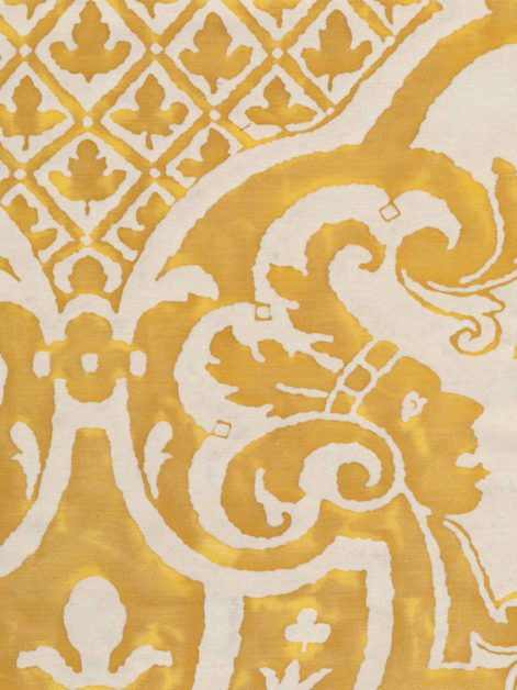 5434 CARNAVALET in yellow & white Fortuny Printed Cottons