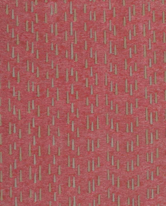 5644 CILINDRI in gold & silver on red Fortuny Printed Cottons