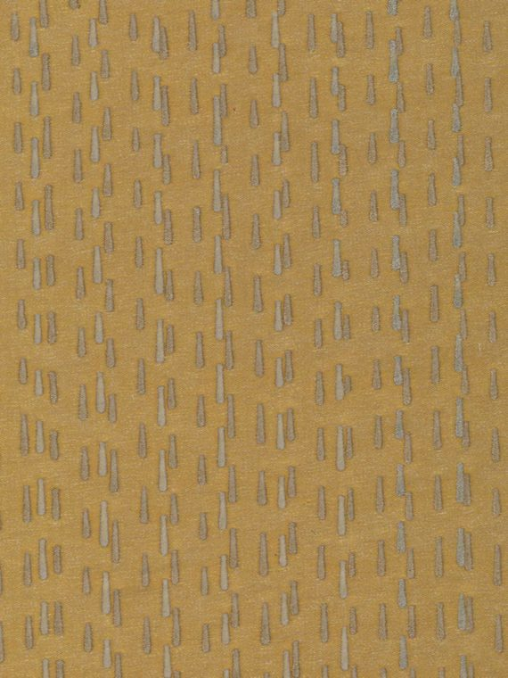 5645 CILINDRI in gold & silver on senape Fortuny Printed Cottons