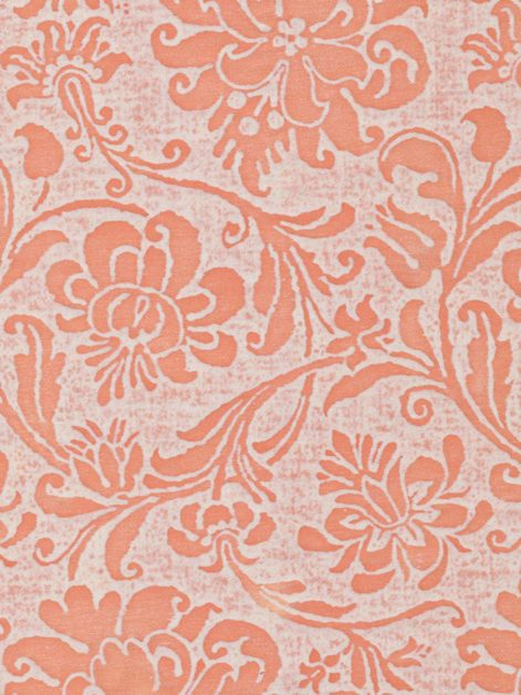 5495 CIMAROSA in melon & white Fortuny Printed Cottons