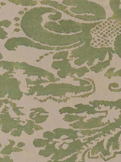 5060 CORONE in green & beige Fortuny Printed Cottons