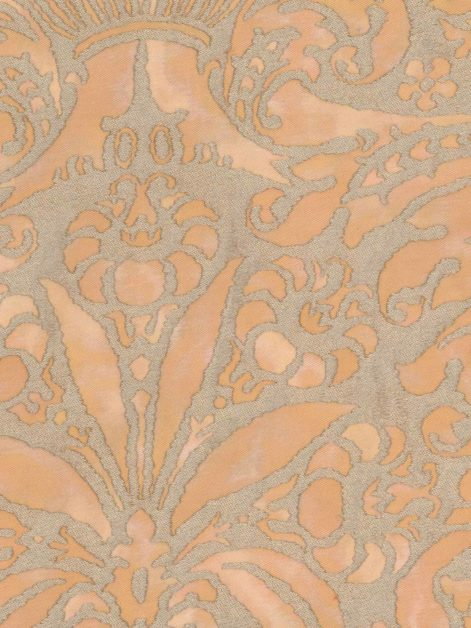 5374 CAMPANELLE in apricot monotones & silvery gold Fortuny Printed Cottons