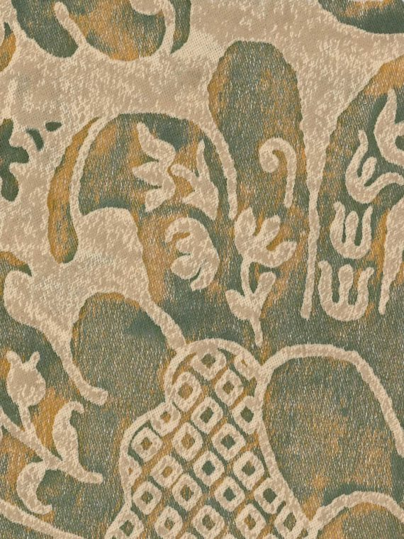 5604 CARAVAGGIO in antique green & beige Fortuny Printed Cottons